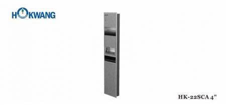 3 In 1 Pengering Udara Tangan Hangat + Dispenser Kertas + Tempat Sampah - Pengering Tangan 2200W dikombinasikan dengan Dispenser Kertas dan Tempat Sampah, Kabinet Stainless Steel Satin