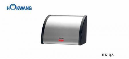 Secador de manos automático de acero inoxidable con extremos de plástico 2200W - HK-QA Acero inoxidable con extremos de plástico Secador de manos automático 2200W