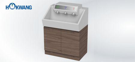 Stasiun Cuci Tangan Otomatis - Pengering tangan InnoWash, dispenser sabun, dan keran - Pengering tangan InnoWash, dispenser sabun otomatis, dan keran air otomatis
