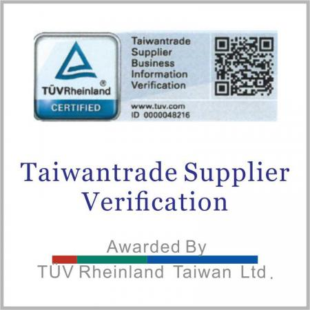 TUV certified Taiwan Trade Supplier