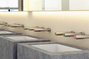 Asciugamani da parete in acciaio inox