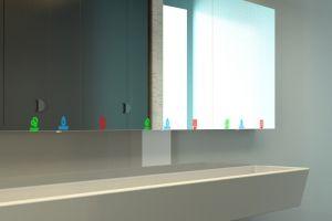 Spiegelschrank-Waschstation