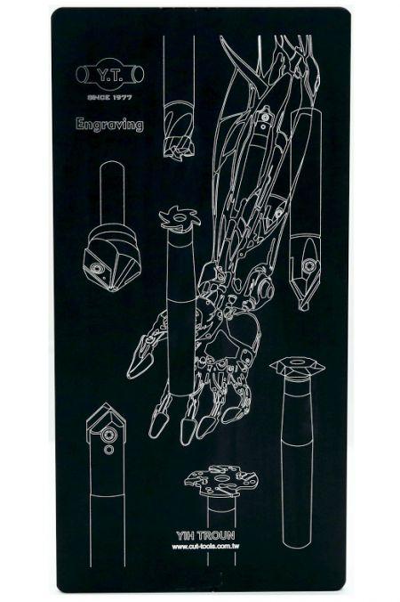Engraving Tool-Mechanical arm-workpiece.