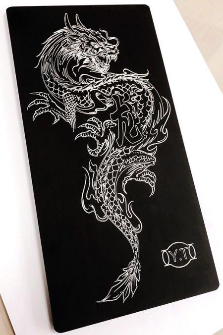 Herramienta de grabado: pieza de trabajo de dragón.