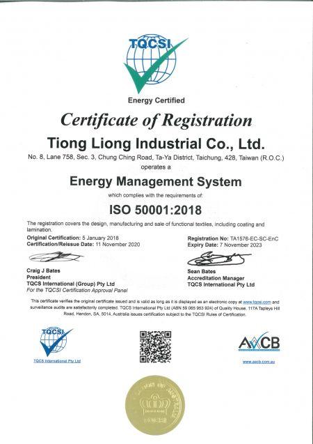 Certificat ISO 50001:2011