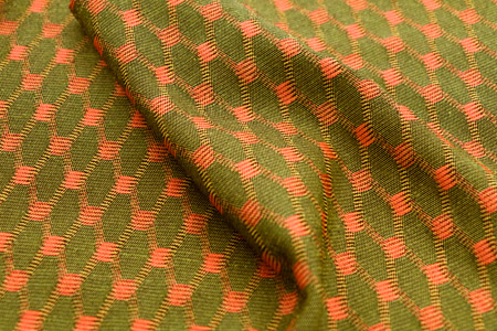 Knit & Woven Functional Fabric - Knit jacquard creates pattern variation.