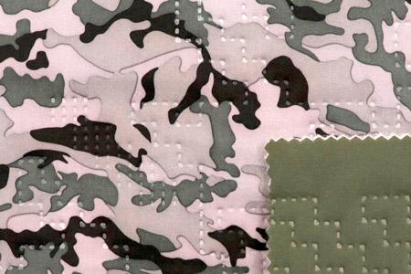 Tissu isolant PrimaLoft® - Léger et chaud, avec impression et motif matelassé sans couture.