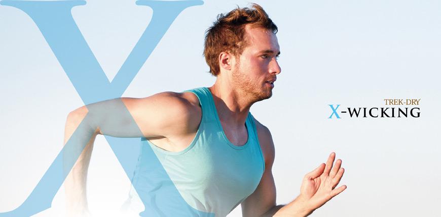 El uso de X-WICKING le permite retener el ejercicio seco y fresco.