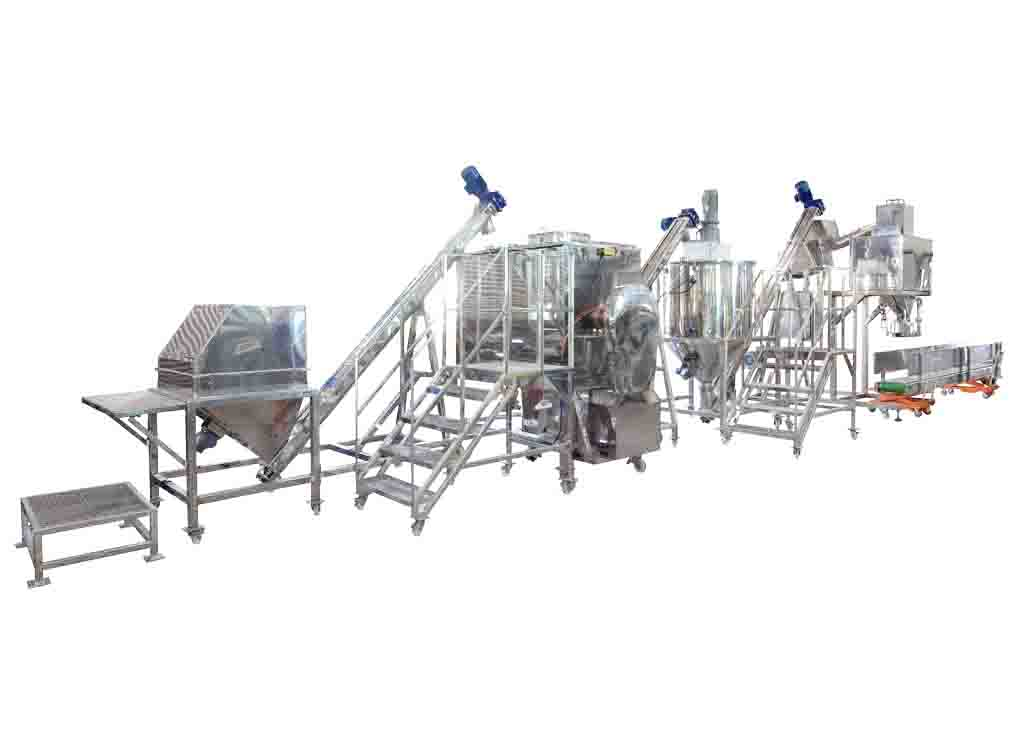 Bakery Powder Mixing, Conveying And Packing System