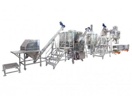 Système de mélange, de transport et d'emballage de poudre de boulangerie