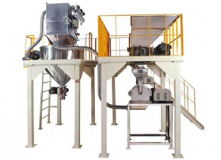 Schlüsselfertiges System zum Zerkleinern chemischer Materialien