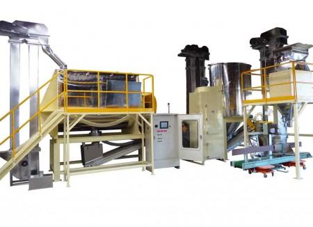 Système de mélange et de transport et d'emballage de grains de café (RM-6500)