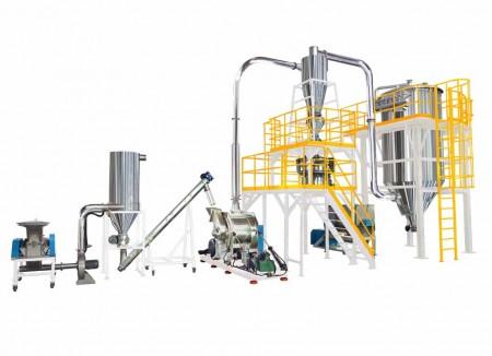 Système de broyage, de broyage et de mélange de produits alimentaires