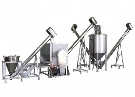Grains Mixing & Transporting Packing System