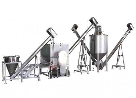 Verpackungssystem zum Mischen und Transportieren von Getreide