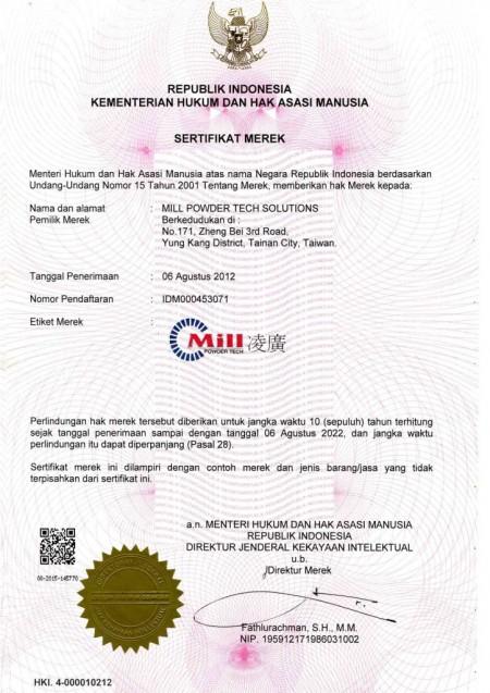 IDM000453071-Pantent в Индонезии