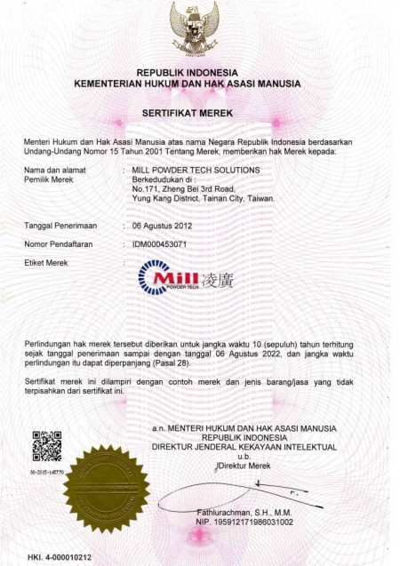 IDM000453071-Pantent في إندونيسيا