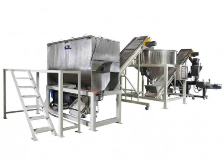 Hệ thống đóng gói trộn bột nước trái cây