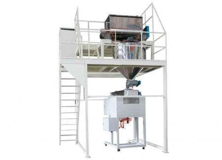 Systèmes de mélange, de stockage, de pesage et de remplissage de lait en poudre