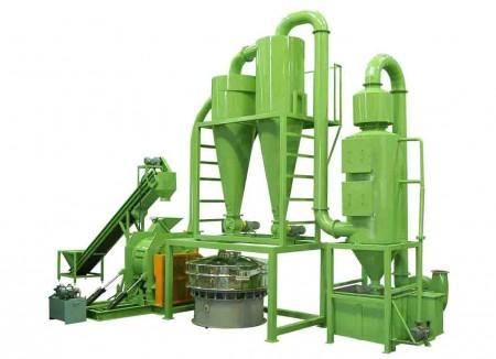 Système de broyage de broyage de fibres de palmier
