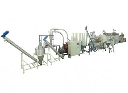 大豆篩分け、乾燥、皮剥、粉砕システム