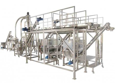 Spices Grinding, Mixing, Heating, Cooling(Liquid Nitrogen) And Packaging System