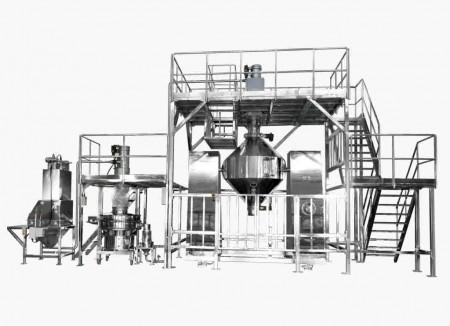 Система вакуумного отсоса-просеивания-перемешивания