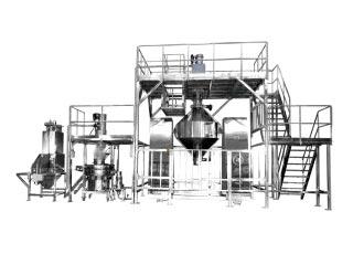 Sistema de mezclado, tamizado y succión al vacío