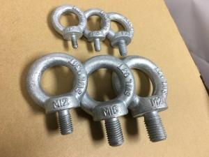 Lifting eye bolts, lifting eye nuts - DIN580 Lifting eye bolts