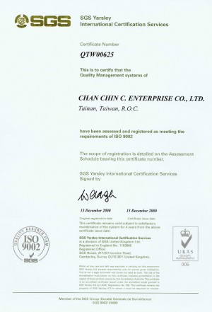 Have been assessed and registed as meeting the requirements of ISO 9002.