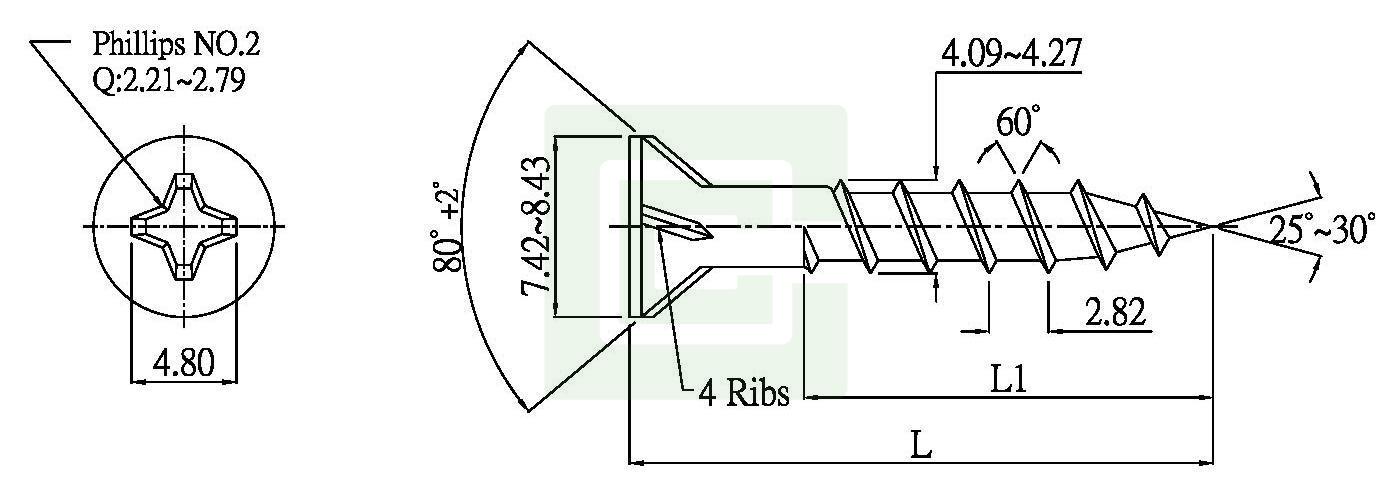particle board screw