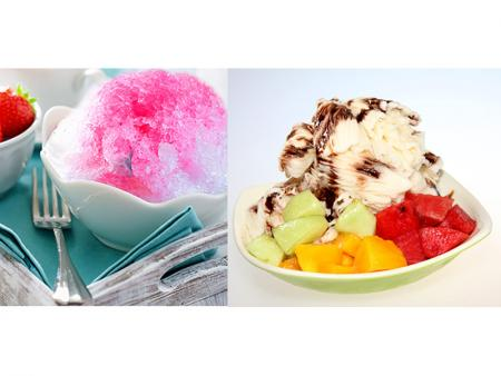 Typical Shaved Ice and Taiwan Snow Ice