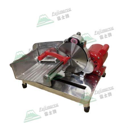 半自動冷凍肉片切片機 - 冷凍肉片專門切片機 (右側視)