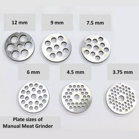Plate of Meat Grinder Sizes