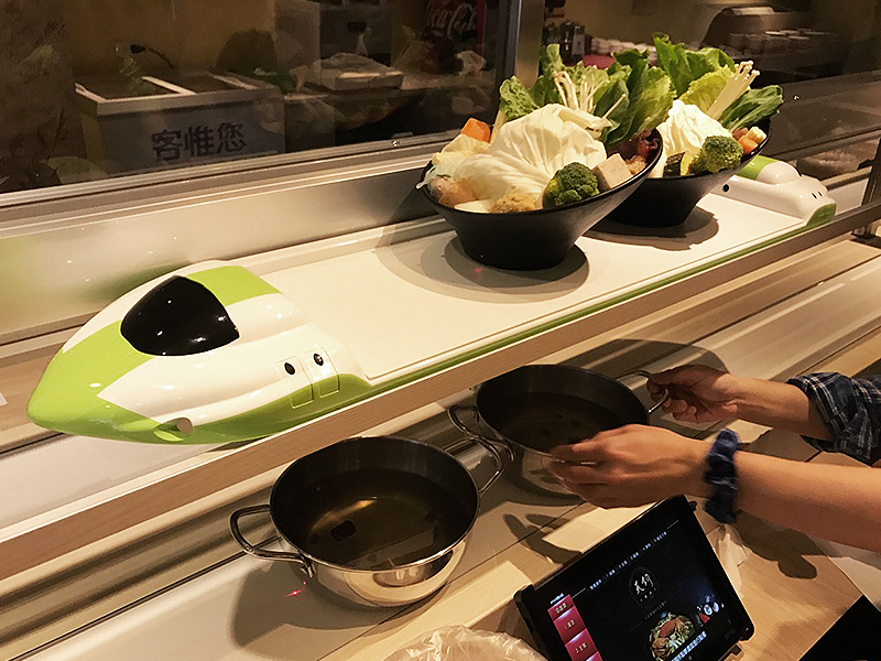 Automatic hot pot restaurant