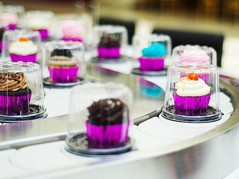 動態展示的杯子蛋糕
