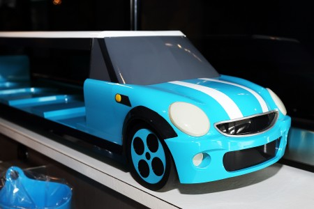 Blue color Mini Cooper Delivery car details