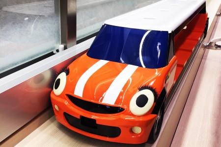 Orange color Mini Cooper Delivery car details