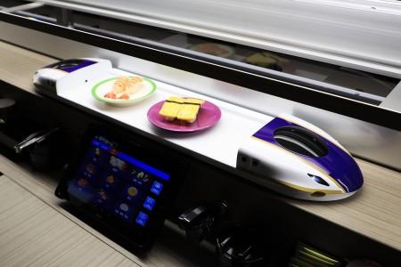 Purplish Blue Color Shinkansen Express Train Automatic Delivery System details