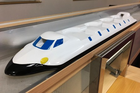 Blue/white Color Shinkansen Express Train Automatic Delivery System details