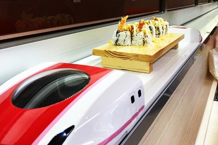 Red/white Color Shinkansen Express Train Automatic Delivery System details
