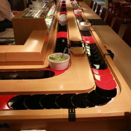 Sushi Conveyor belt - Gaya dek tunggal dan ganda