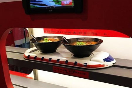 Turnable Express Train-Maglev Delivery System details(Ramen Restaurant)