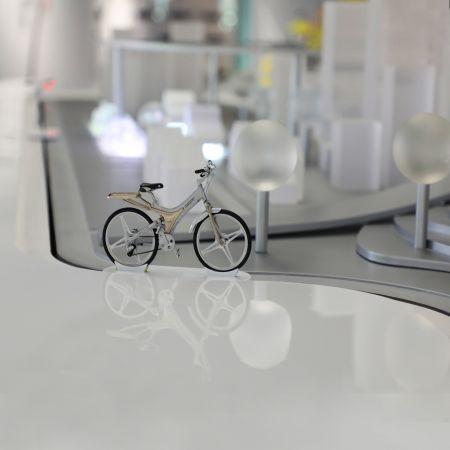 Transportador de exhibición de discos - Museo de la cultura ciclista
