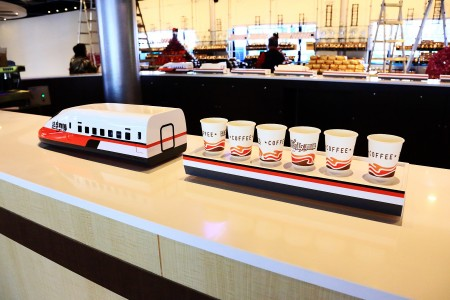 Magnetic Display Conveyor uses in information counter(Taiwan-Ping Huang Coffee Tourism Factory)