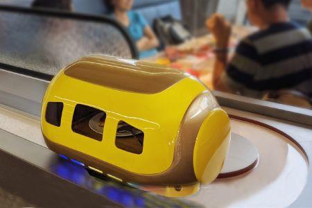 軌道送餐機器人_朗寧牛排