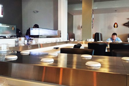Stainless Steel Magnetic Induction Sushi Conveyor details(USA)