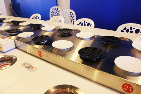 Stainless Steel Magnetic Induction Sushi Conveyor details(Taiwan)