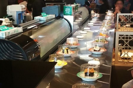 Stainless Steel Magnetic Induction Sushi Conveyor details(Singapore)
