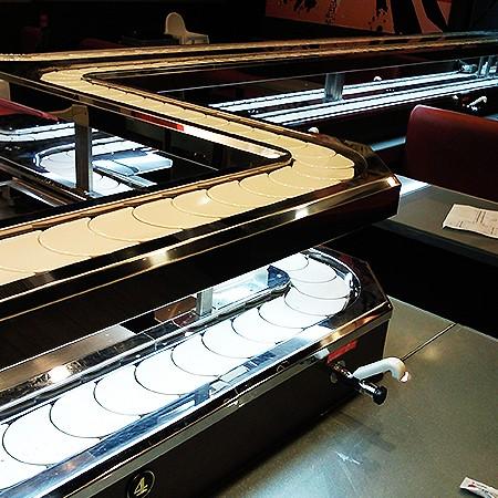 Référence de type-Convoyeur à chaîne Sushi Styles à double étage - Styles à double étage de convoyeur à chaîne de sushi
